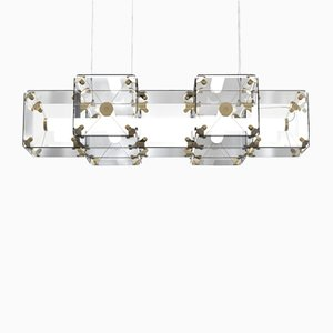 Lámpara colgante Hyperqube de vidrio de Felix Monza