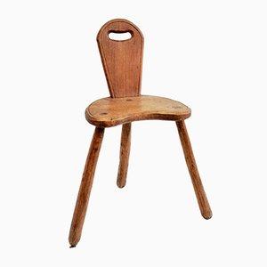 Vintage Brutalist Low Chair