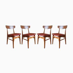 Dänische Esszimmerstühle aus Teak & Buche von Farstrup, 1960er, 4er Set