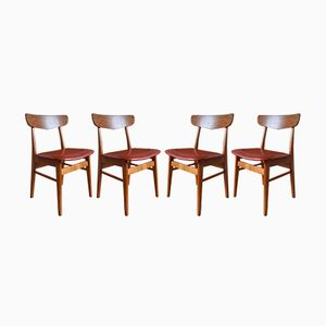 Danish Teak & Beech Dining Chairs from Farstrup, 1960s, Set of 4