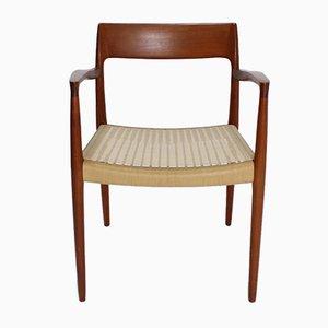 Sedia modello 57 in teak di Niels Otto Möller per J. L Mollers, anni '60