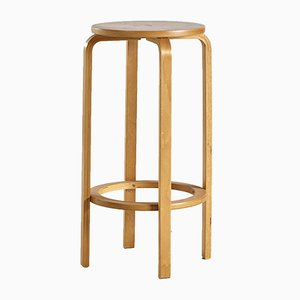 Vintage Danish Beech Bar Stool, 1960s