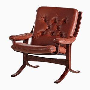 Dänischer Vintage Sessel mit Knöpfen von Ingmar Relling für Westnofa, 1960er