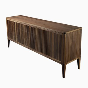 Large Oiled Natural Walnut MILLE RIGHE Sideboard from DALE Italia
