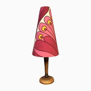 Tischlampe aus Teak, 1960er