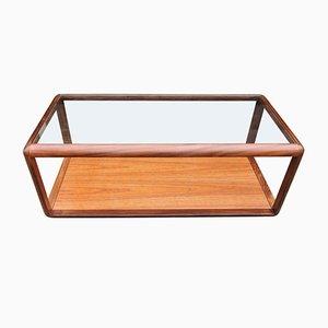 Mesa de centro rectangular de teca de G-Plan, años 60
