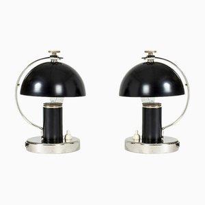 Lámparas de mesa de Erik Tidstrand para Nordiska Kompaniet, años 30 . Juego de 2