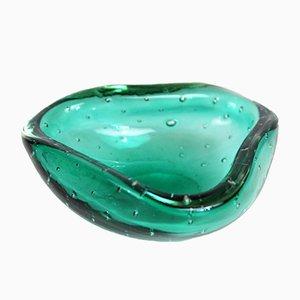 Cenicero italiano de cristal de Murano, años 60