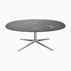 Tavolo 2480 in marmo nero di Florence Knoll per Knoll Inc., anni '80