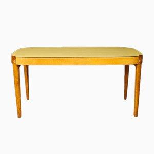 Mesa de comedor italiana de madera, años 60
