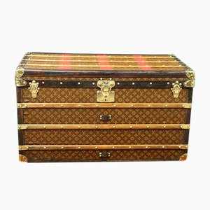 Antique Stencil Canvas Trunk from Louis Vuitton
