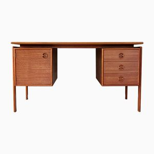 Teak Writing Desk by G.V. Gasvig, 1960s