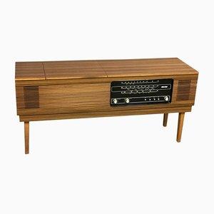 HiFi-Sideboard aus Teak mit Plattenspieler, 1970er