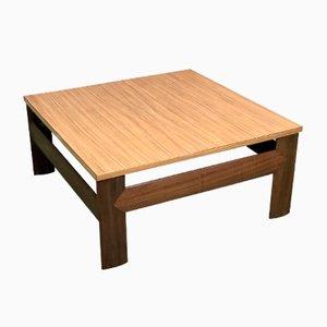 Mesa de centro de teca y formica, años 70