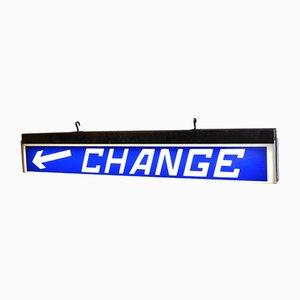 Beleuchtetes Vintage Change Schild