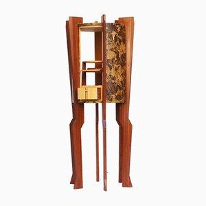 Mueble bar vintage en forma de cohete