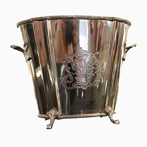 English Silver-Plated Ice Bucket, 1950s