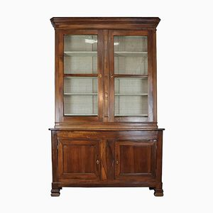 Antique Walnut Bookcase, 1850s