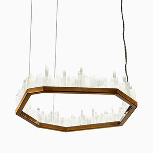 Downtown White Quartz Pendant Lamp by Waldir Junior