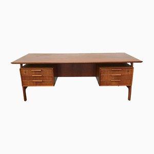 Vintage Teak Modell 75 Schreibtisch von Omann Jun