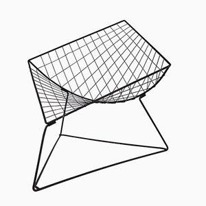 Sedia a rete in metallo di Niels Gammelgaard, anni '80