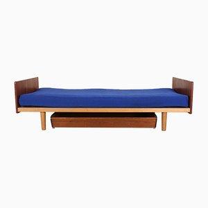 Sofá cama danés vintage de teca