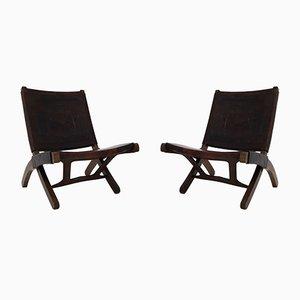 Sedie pieghevoli di Angel Pazmino per Muebles De Estilo, anni '60, set di 2