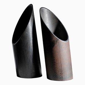 Coppia di vasi scolpiti di Lukas Friedrich