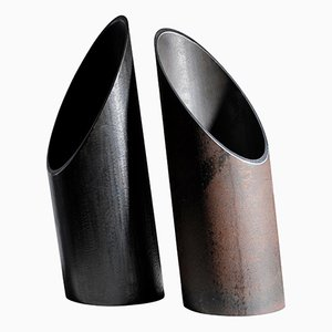 Pair of Sculpted Vases by Lukas Friedrich