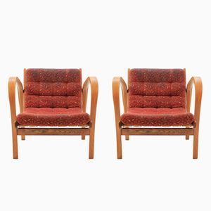 Armchairs by Karel Kozelka and Antonín Kropáček, 1940s, Set of 2
