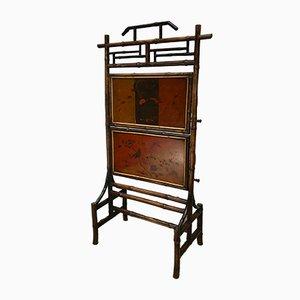 Ecran de Cheminée Victorien Antique en Bambou