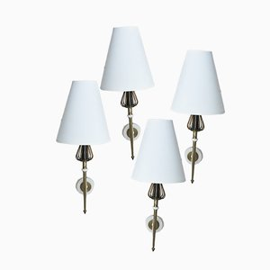 Muguet Wall Lights from Lunel, 1950s, Set of 4
