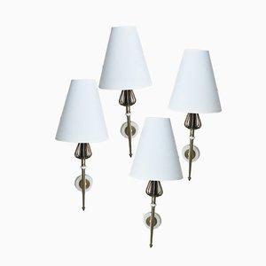 Muguet Wandlampen von Lunel, 1950er, 4er Set