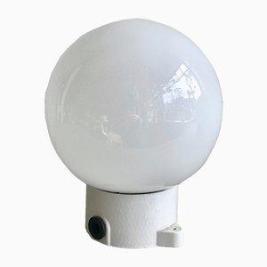 Lampada da soffitto o applique vintage in ceramica e vetro opalino