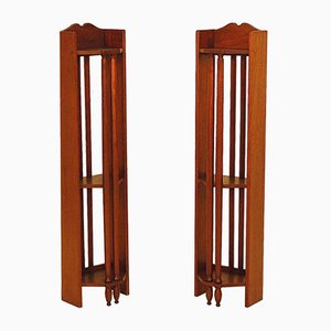 Antique Mahogany Shelves, Set of 2
