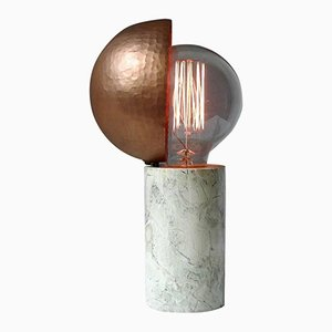 Marble Table Lamp by Sander Bottinga
