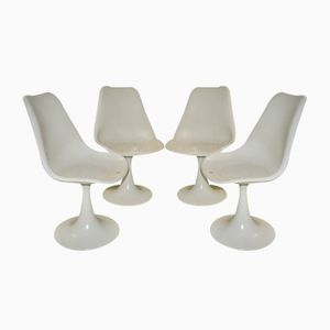 Tulip Chairs aus Kunststoff, 1970er, 4er Set