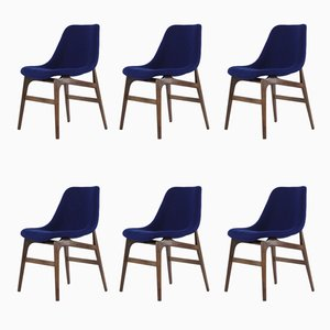 Chairs by Vittorio Dassi, 1950s, Set of 6