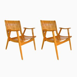 German Bauhaus Armchairs by Erich Diekmann for Gelenka, 1930s, Set of 2