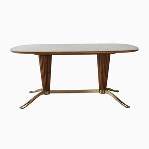 Italian Table with Column Base, 1950s
