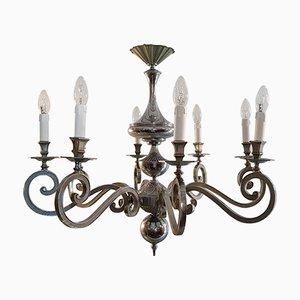 Lámpara de araña italiana barroca, años 50