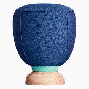 Pouf Bleu par Masquespacio