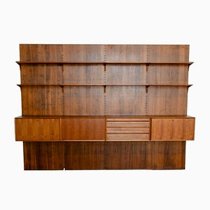 Large Mid-Century Teak Wall Unit by Poul Cadovius, 1960s