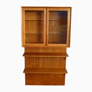 Danish Teak Shelving System with Glass by Poul Cadovius for Cado, 1960s