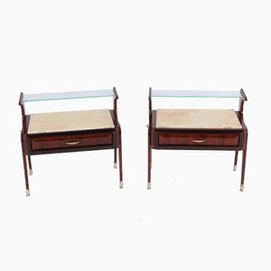 Mid-Century Italian Bedside Cabinets, Set of 2