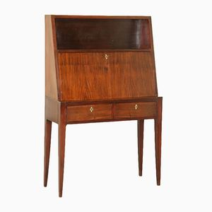 Stained Beech Mahogany Writing Desk, 1950s