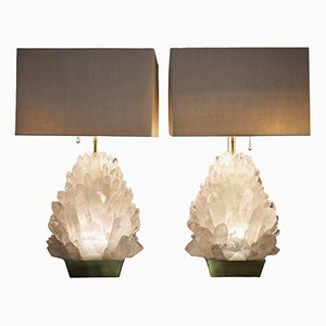 Kristallglaslampen von Demian Quincke, 2er Set