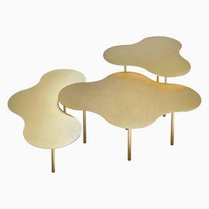 Tavolini da caffè in ottone di Sebastian Scherer, set di 3