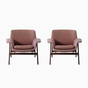 Modell 849 Armlehnstühle von Gianfranco Frattini für Cassina, 1960er, 2er Set