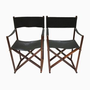 Model MK16 Folding Chairs by Mogens Koch for Interna, 1970s, Set of 2